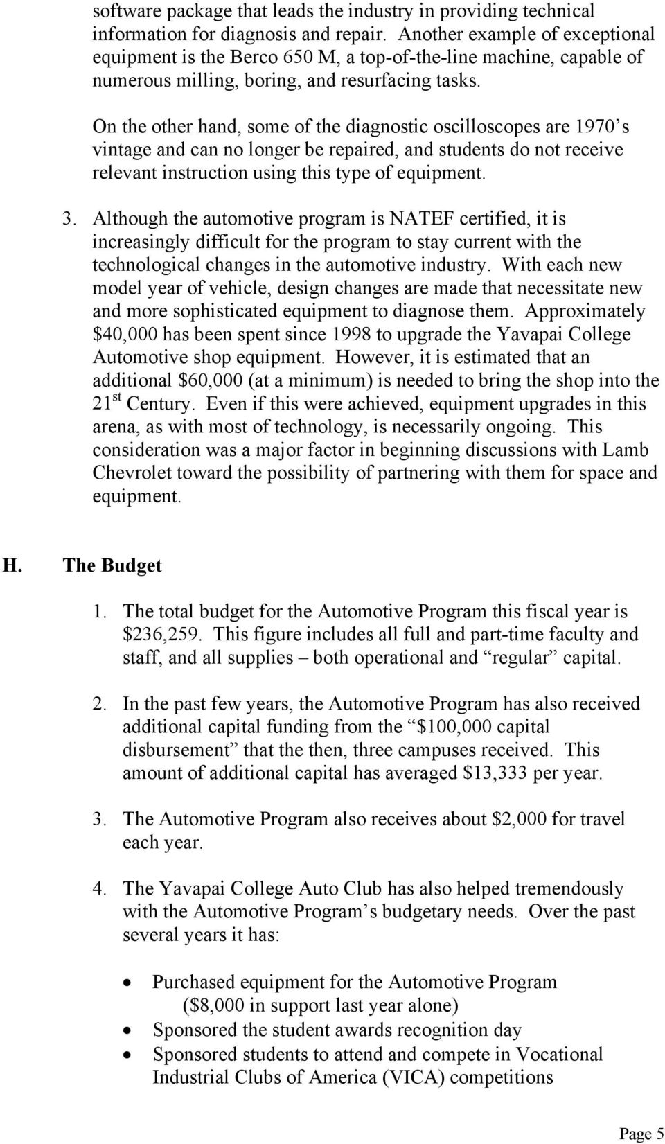 Automotive Technology Program Pdf