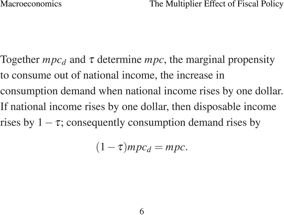 The Multiplier Effect Of Fiscal Policy PDF