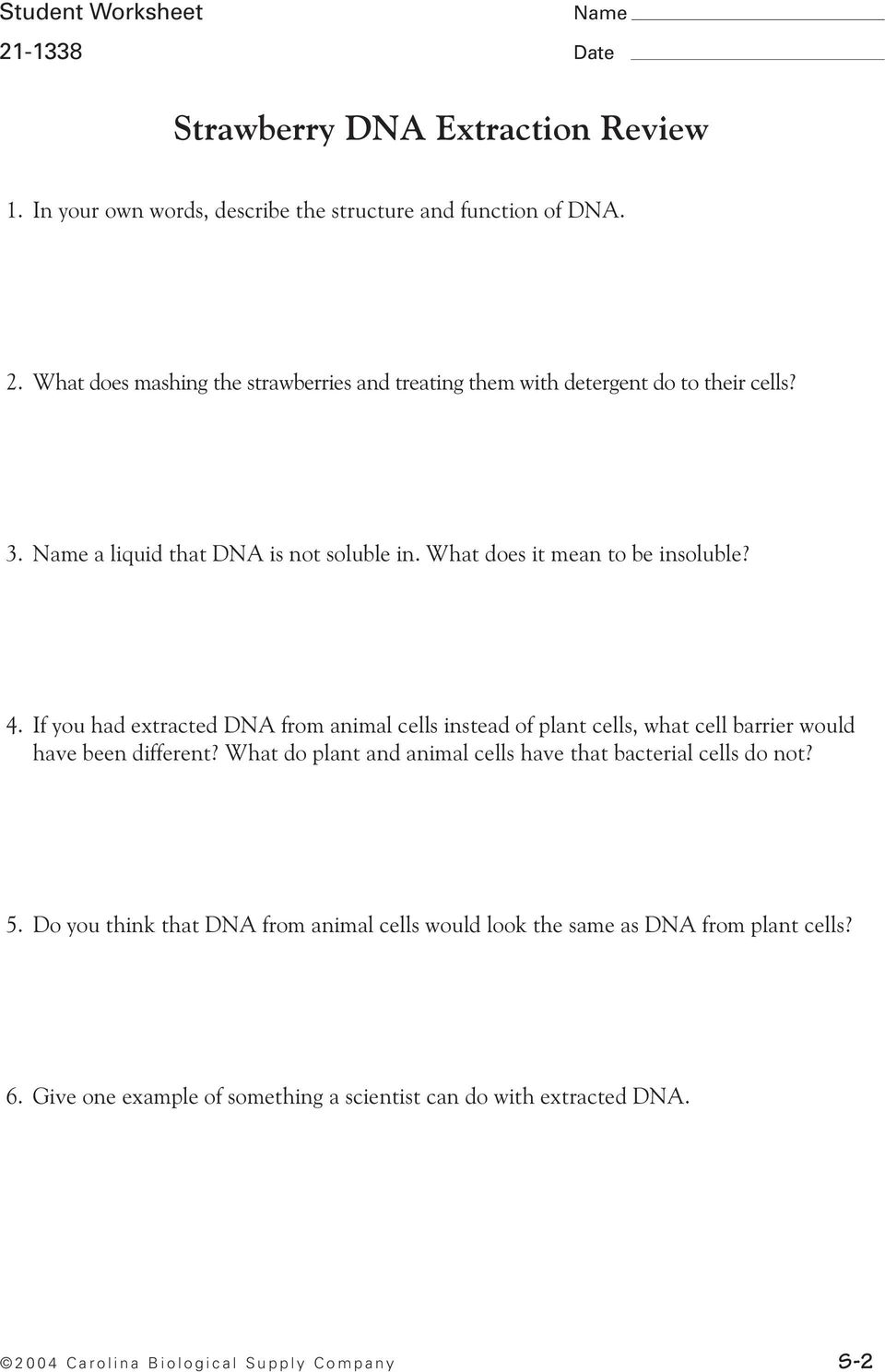 Strawberry Dna Extraction Pdf Free Download