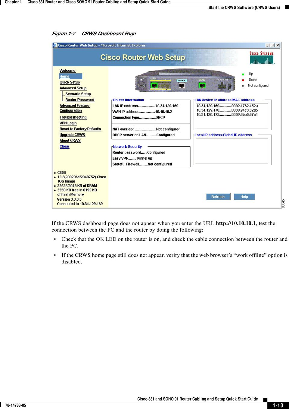 Cisco 831 Router And Soho 91 Cabling Setup Quick Console Cable Wiring Diagram 3550 10101 Test The Connection Between Pc By Doing