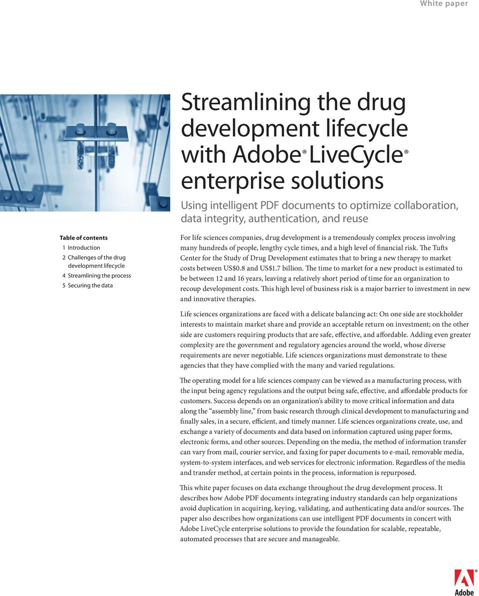 Streamlining the drug development lifecycle with Adobe