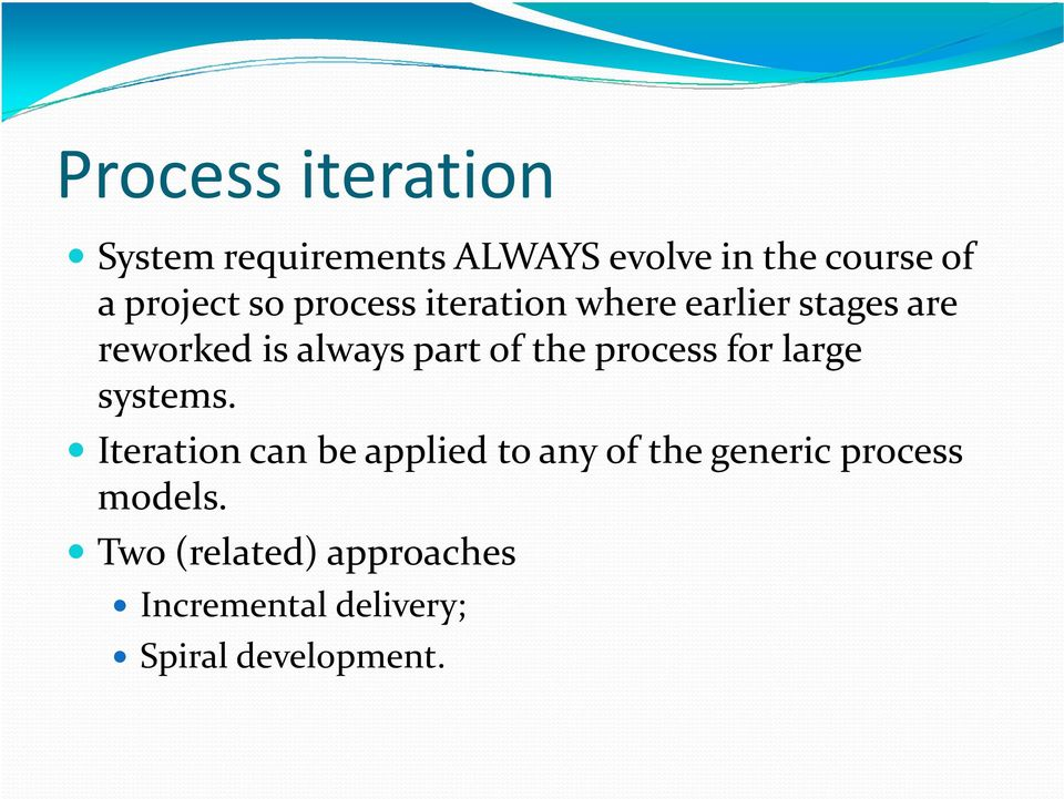of the process for large systems.