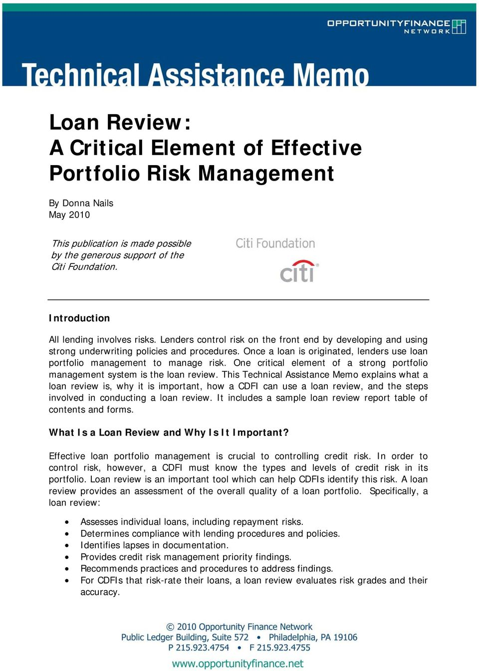 why credit risk management is important