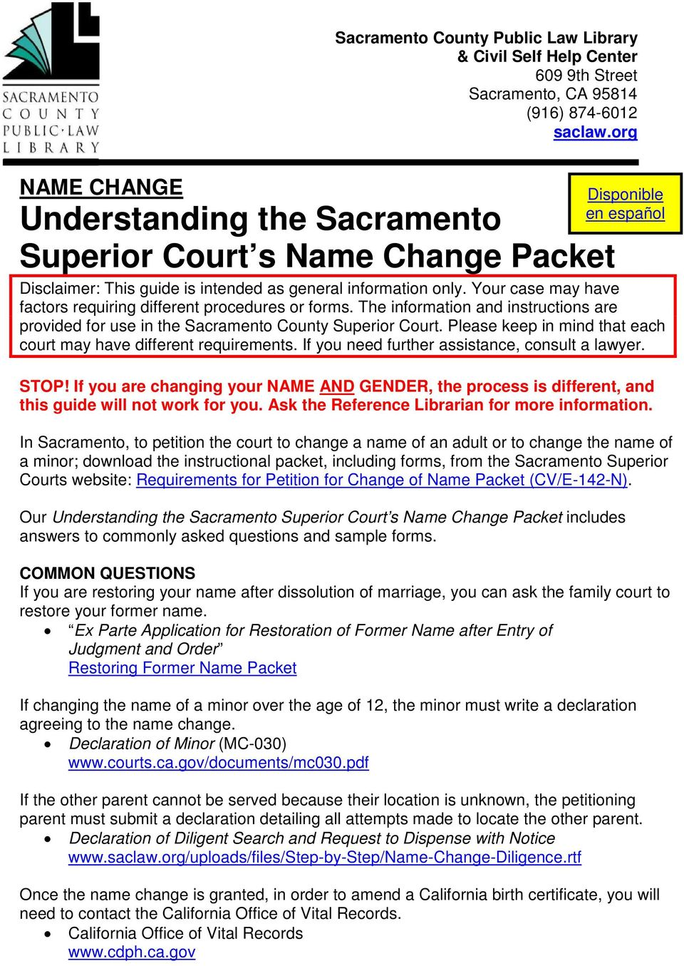 Name Change Understanding The Sacramento Superior Court S Name