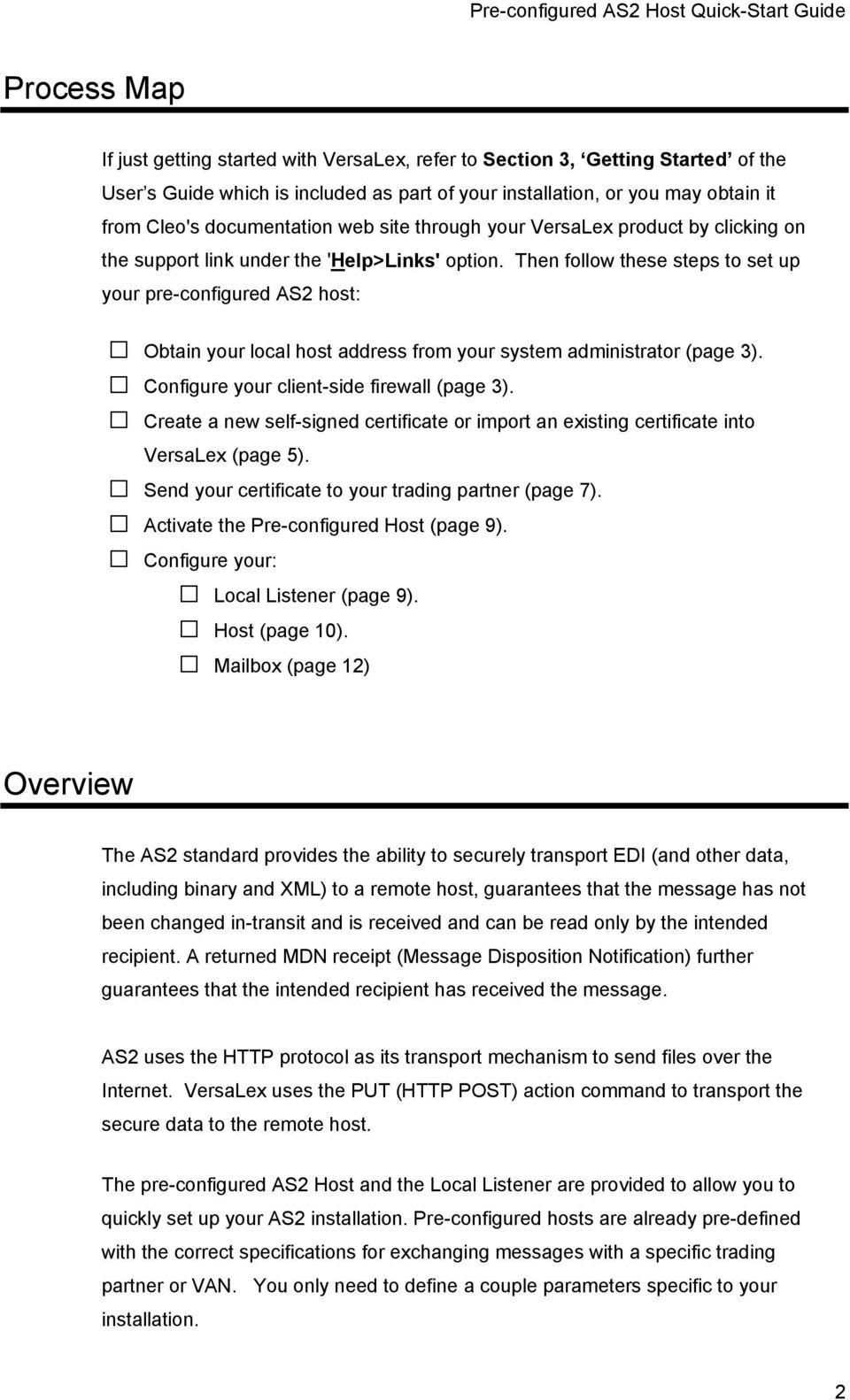 Pre-configured AS2 Host Quick-Start Guide - PDF