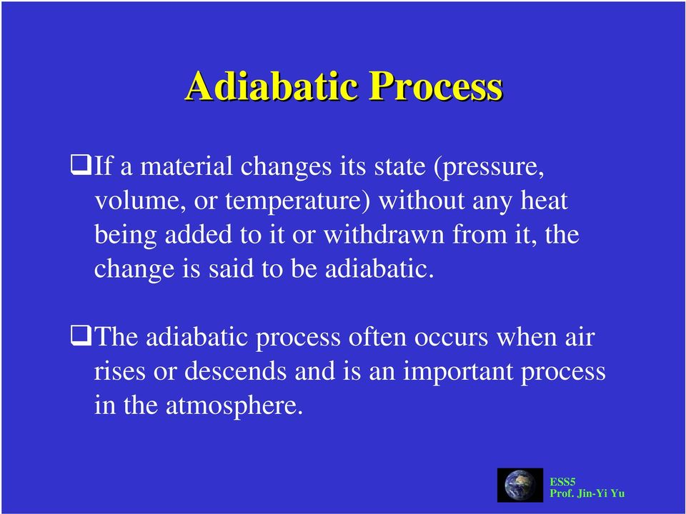 the change is said to be adiabatic.