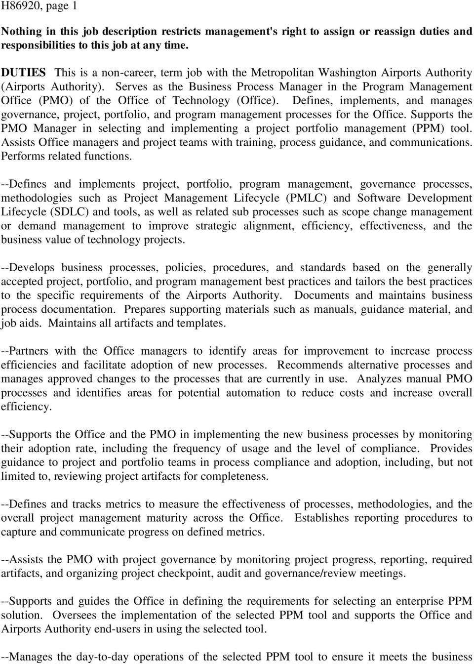 Nothing In This Job Description Restricts Management S Right To Assign Or Reassign Duties And Responsibilities To This Job At Any Time Pdf Free Download