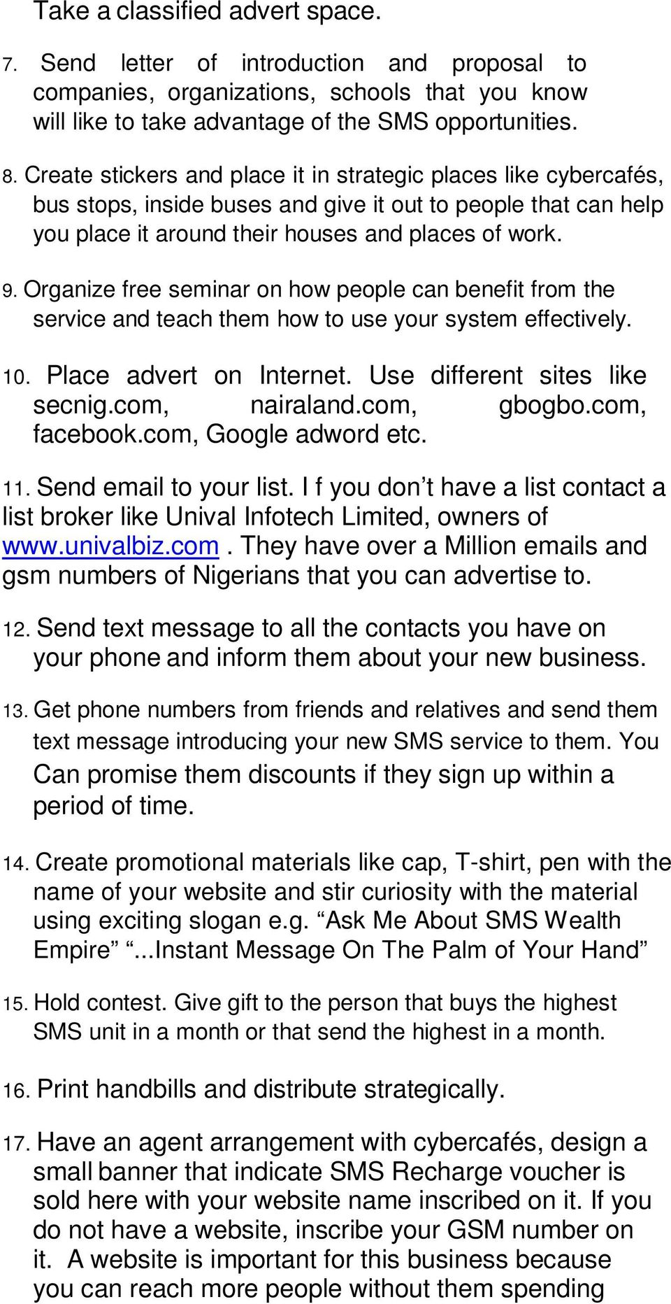 How To Make Money From Bulk SMS Business - PDF