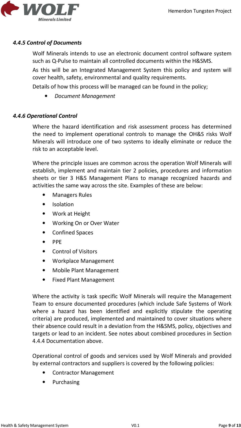 Health & Safety Management System Manual - PDF