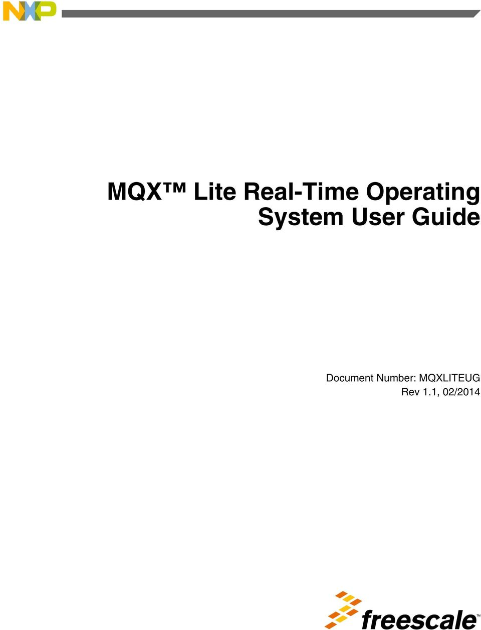 MQX Lite Real-Time Operating System User Guide - PDF