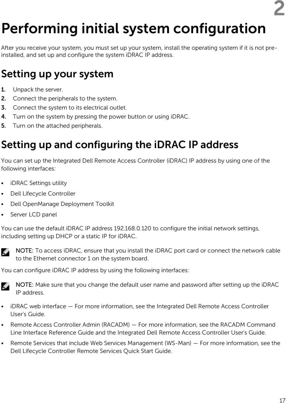 How To Change Dell Idrac Ip Address How to Set Up the CMC