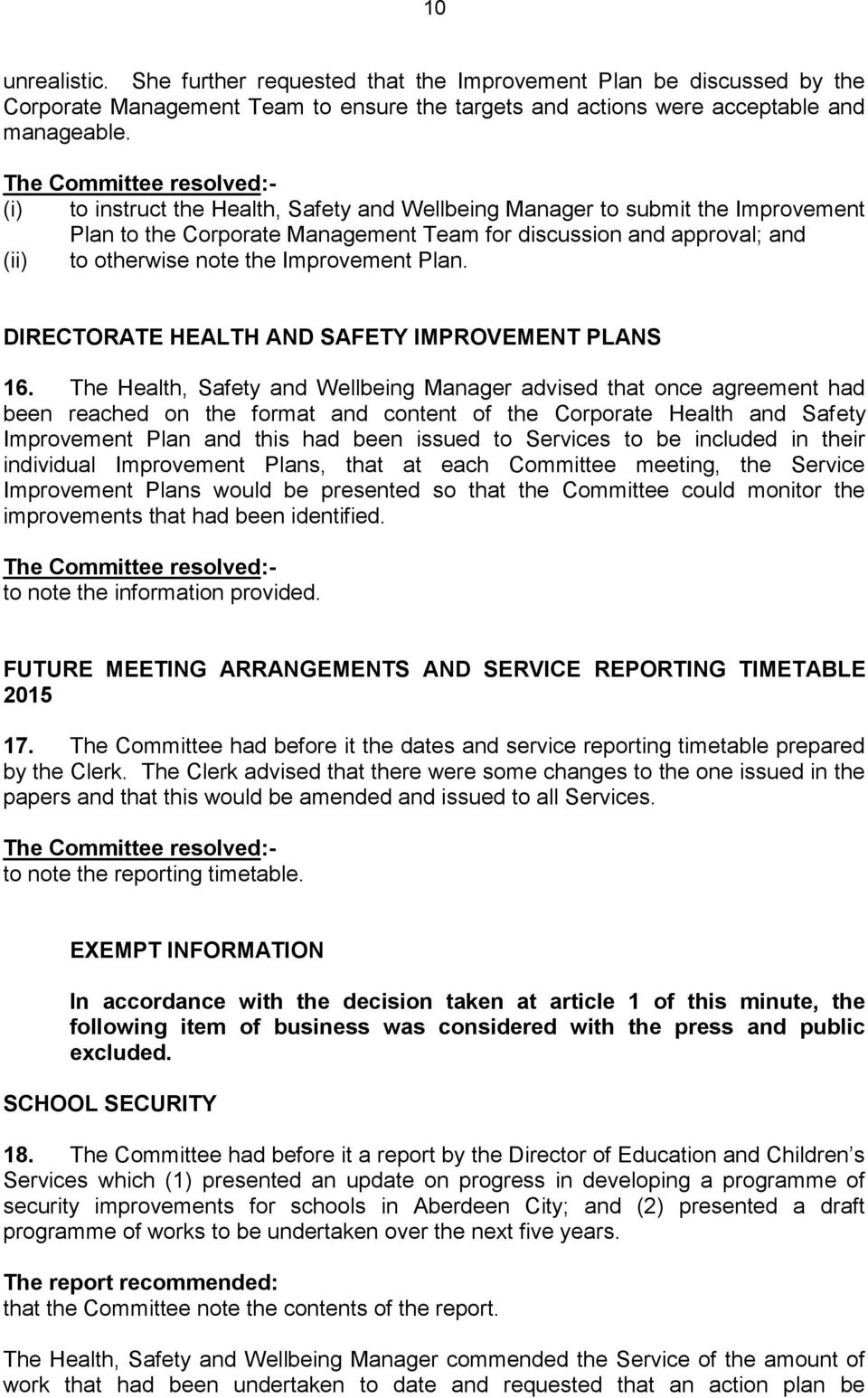 Corporate Health And Safety Committee Pdf