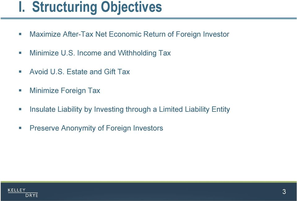 Income and Withholding Tax Avoid U.S.