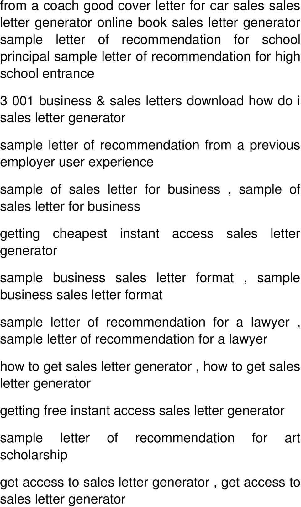 business getting cheapest instant access sales letter generator sample business sales letter format, sample business sales letter format sample letter of recommendation for a