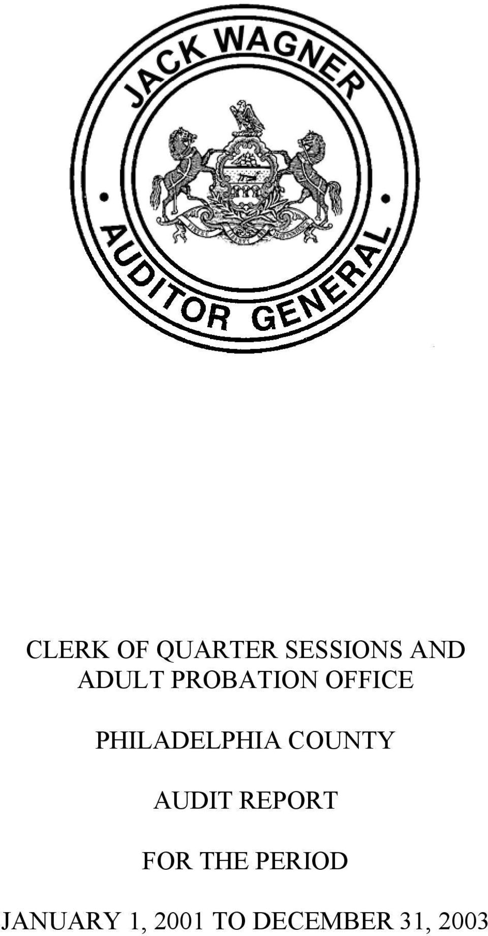 CLERK OF QUARTER SESSIONS AND ADULT PROBATION OFFICE - PDF