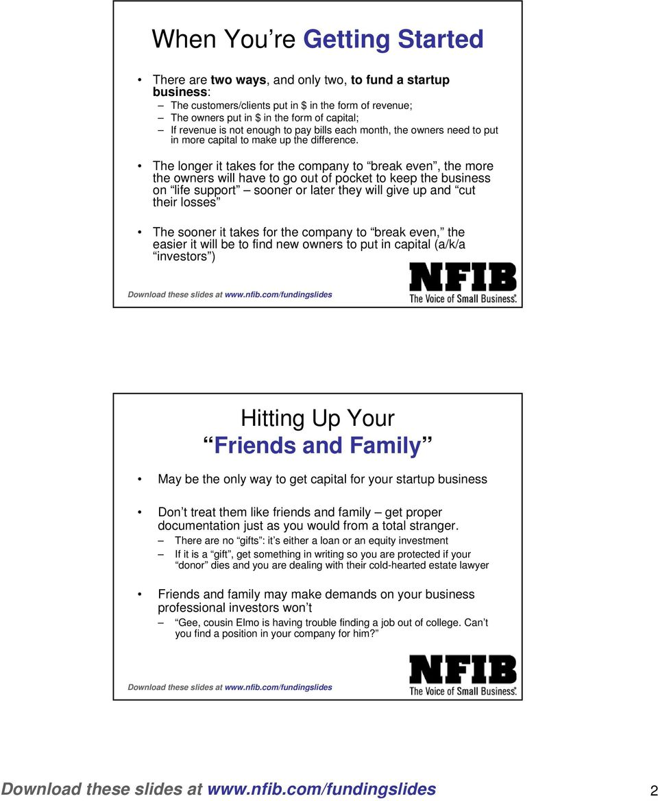 Alternative Funding Sources to Start or Grow your Business - PDF