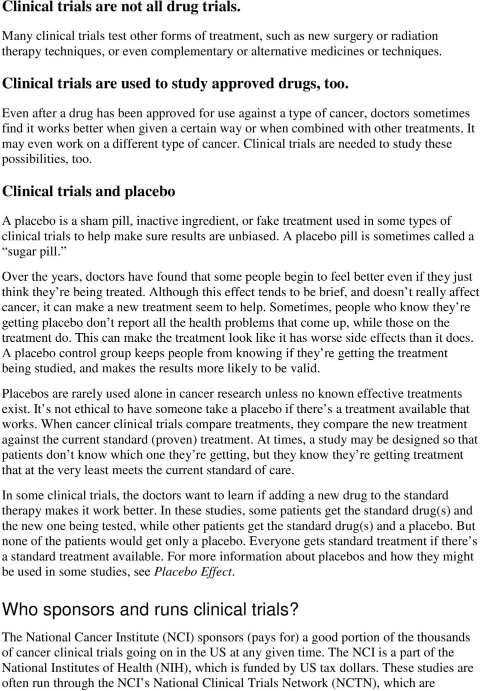 Clinical Trials: What You Need to Know - PDF