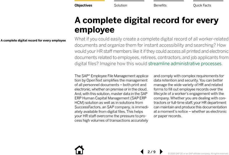 How would your HR staff members like it if they could access all printed and electronic documents related to employees, retirees, contractors, and job applicants from digital files?