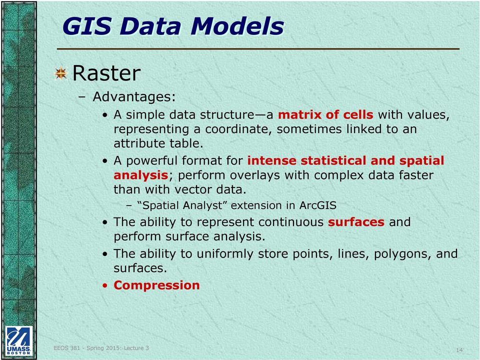 EEOS 381 -Spatial Databases and GIS Applications - PDF