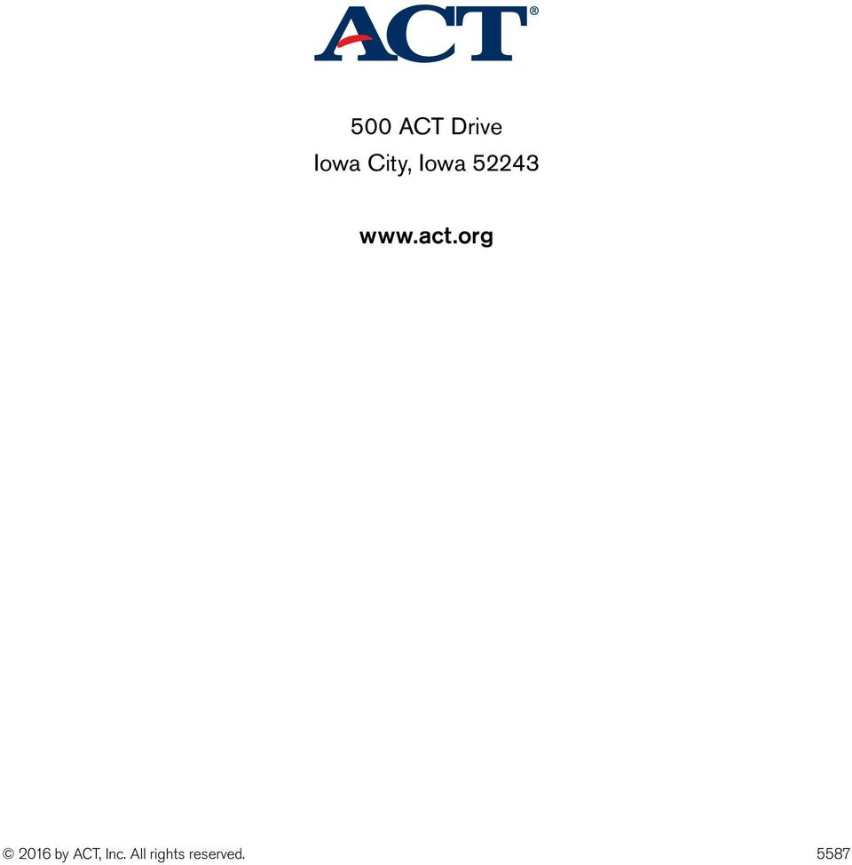act.org 2016 by ACT,