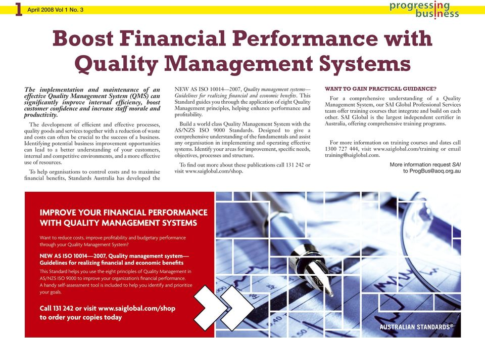 Boost Financial Performance with Quality Management Systems