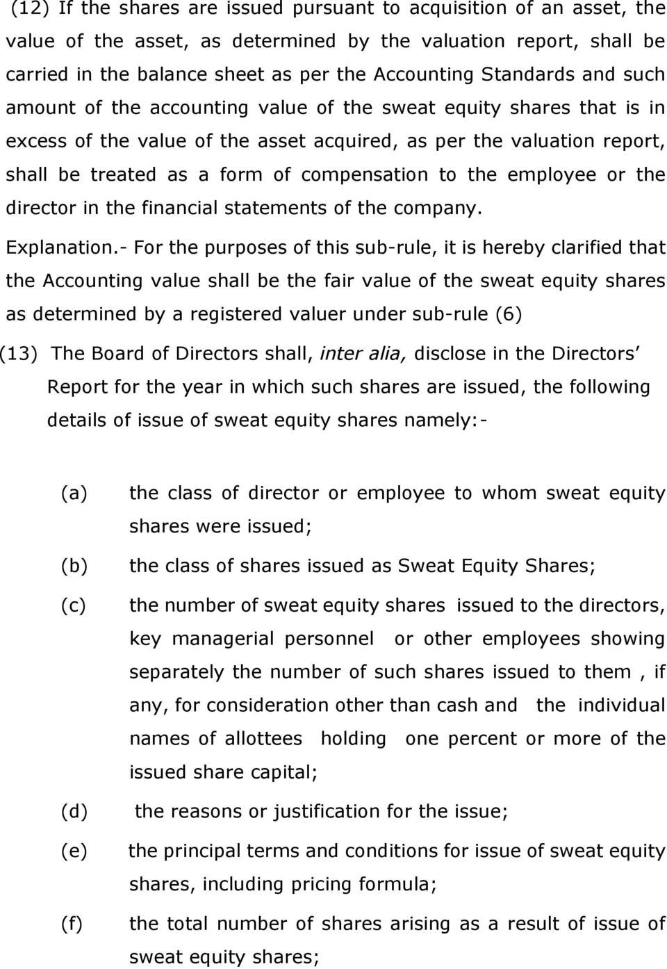 1 These Rules May Be Called The Companies Share Capital And