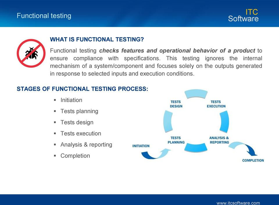 This testing ignores the internal mechanism of a system/component and focuses solely on the outputs generated in
