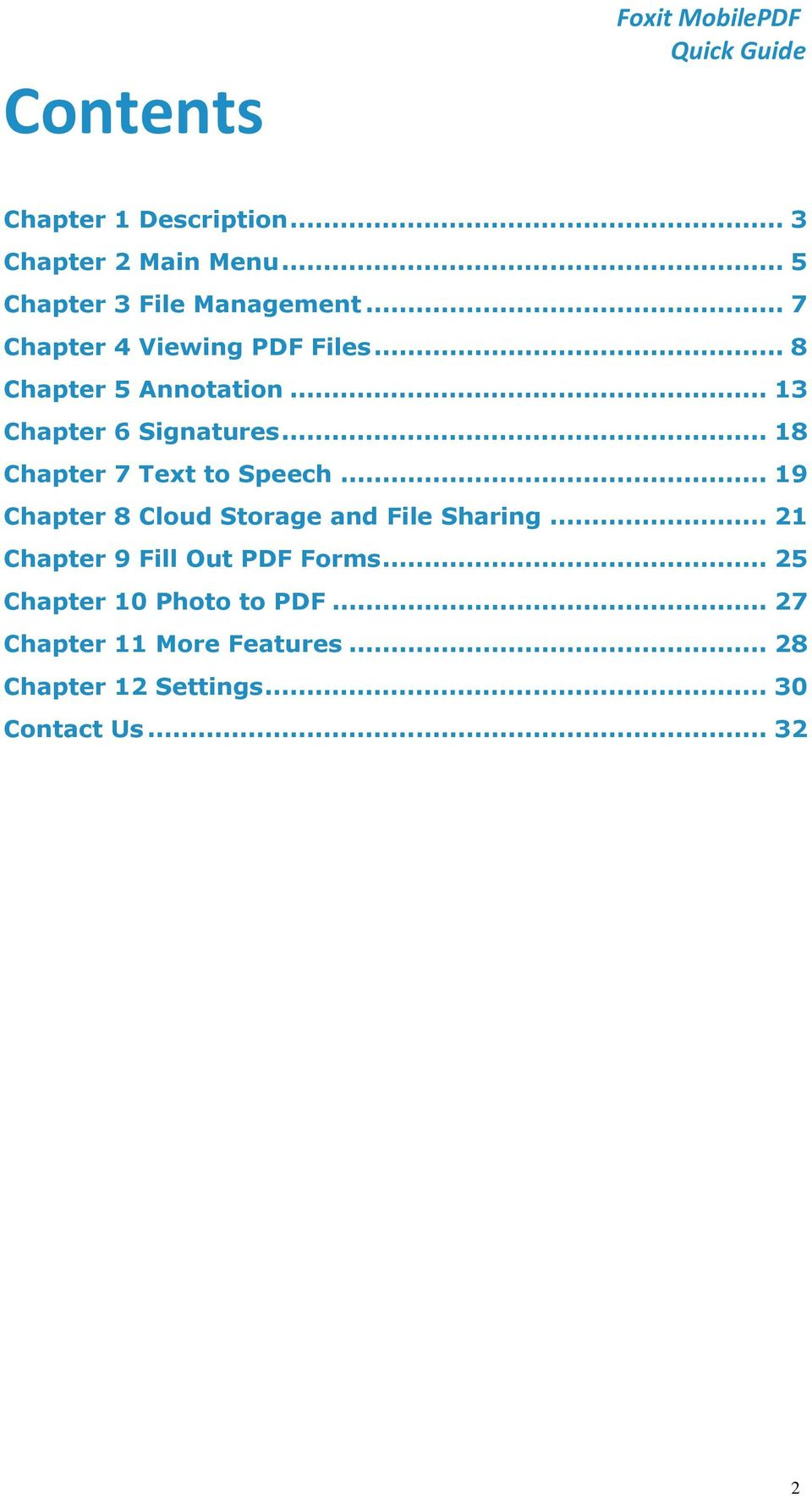 .. 18 Chapter 7 Text to Speech... 19 Chapter 8 Cloud Storage and File Sharing.