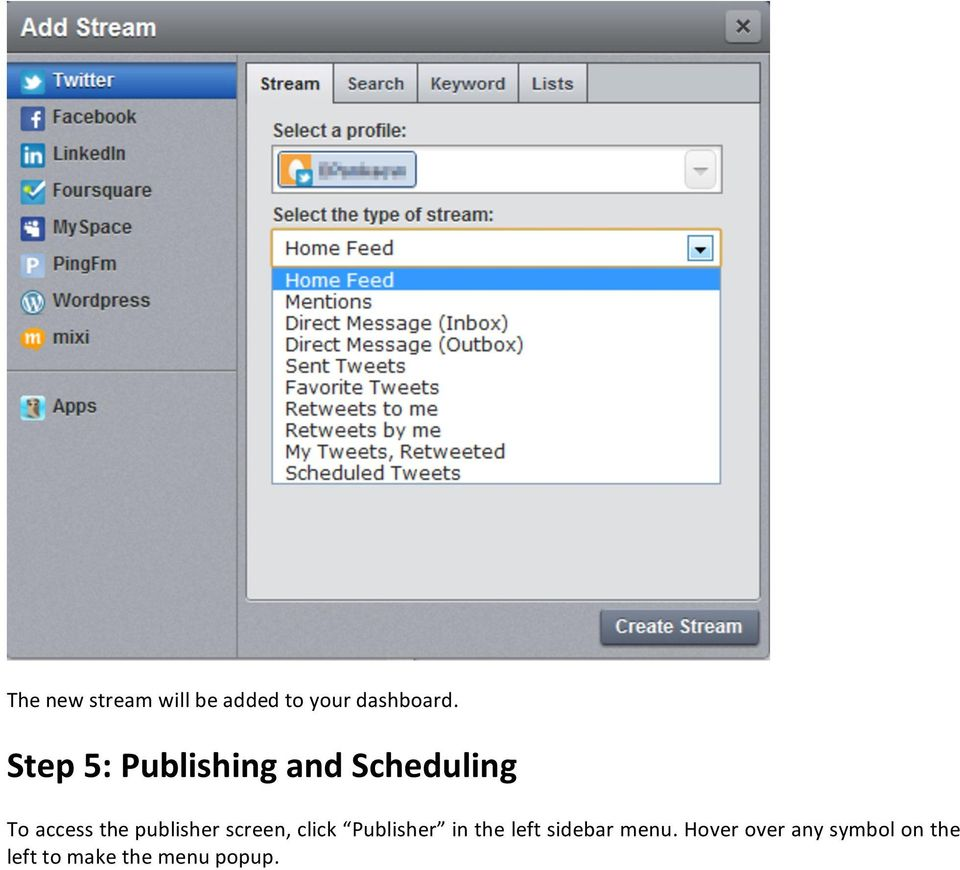 publisher screen, click Publisher in the left sidebar