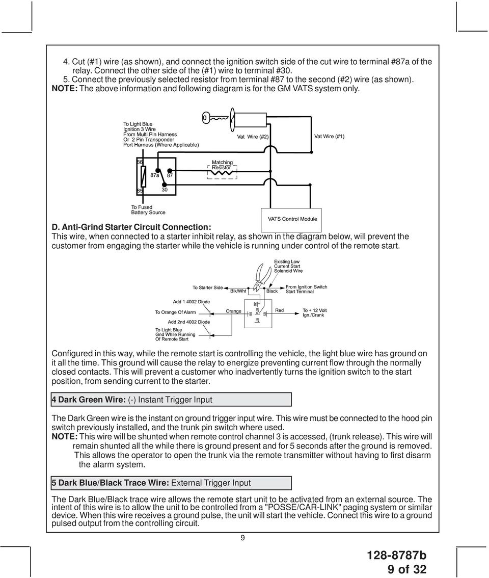 Patented Pdf 12 Volt 4 Terminal Solenoid Wiring Diagram Anti Grind Starter Circuit Connection This Wire When Connected To A Inhibit