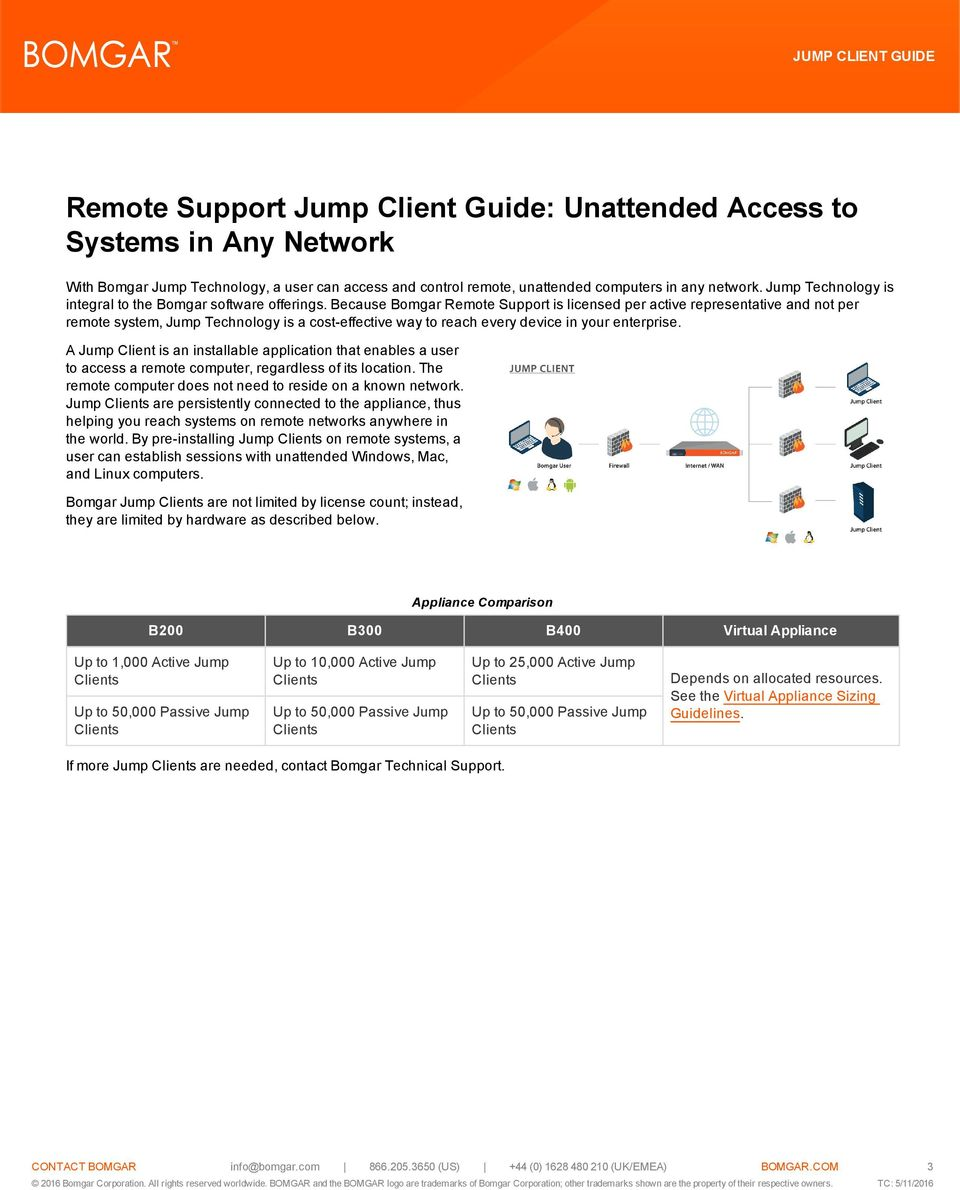 remote support jump client guide unattended access to systems in
