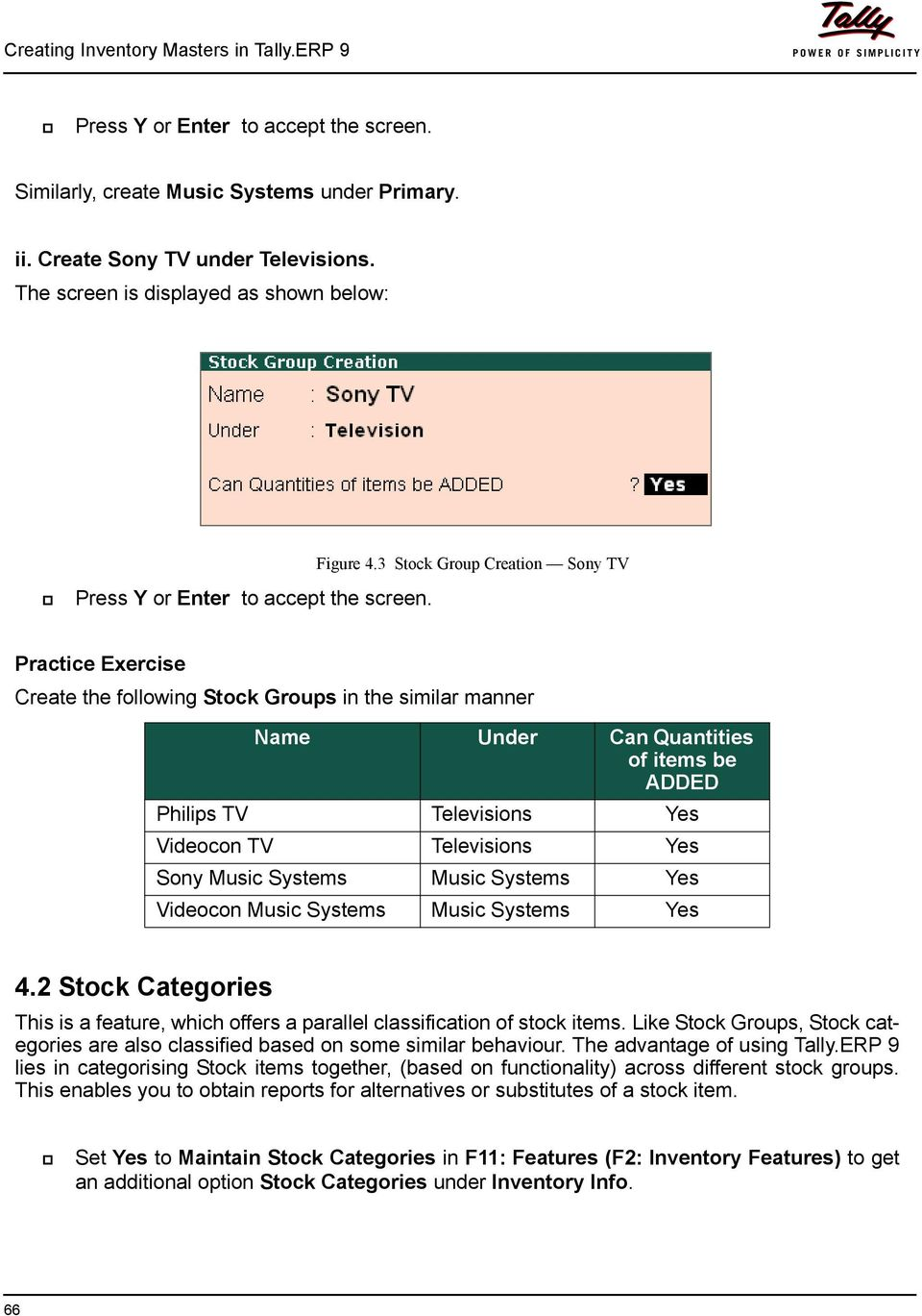 Lesson 4: Creating Inventory Masters in Tally ERP 9 - PDF