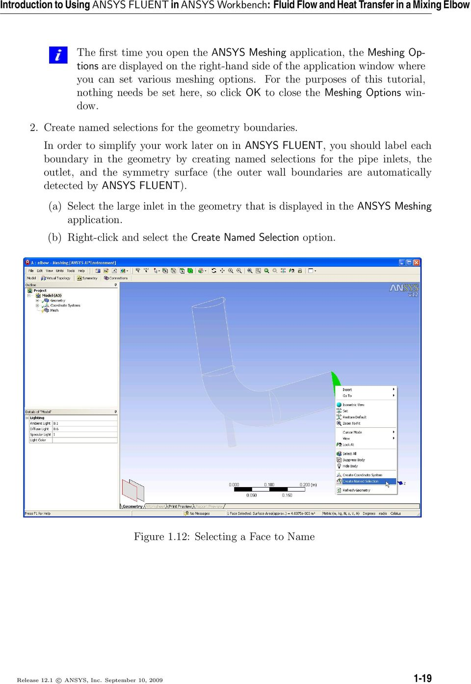 Tutorial 1  Introduction to Using ANSYS FLUENT in ANSYS