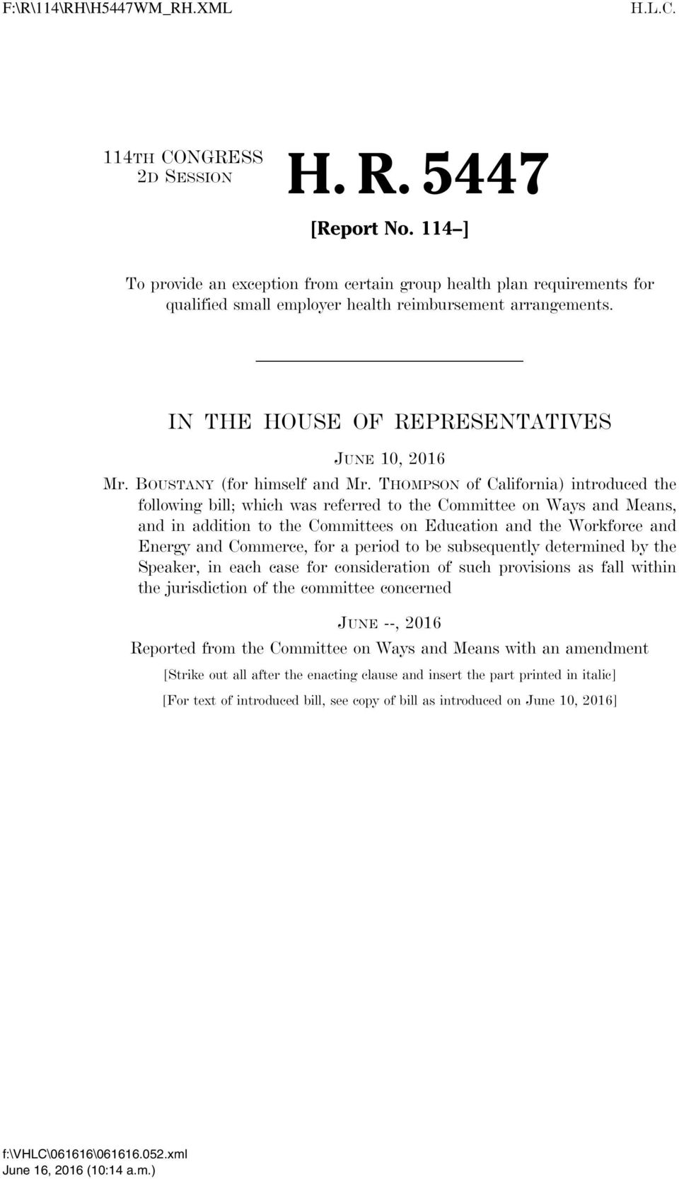THOMPSON of California) introduced the following bill; which was referred to the Committee on Ways and Means, and in addition to the Committees on Education and the Workforce and Energy and Commerce,