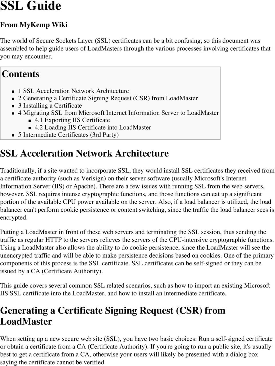 Generating a Certificate Signing Request (CSR) from