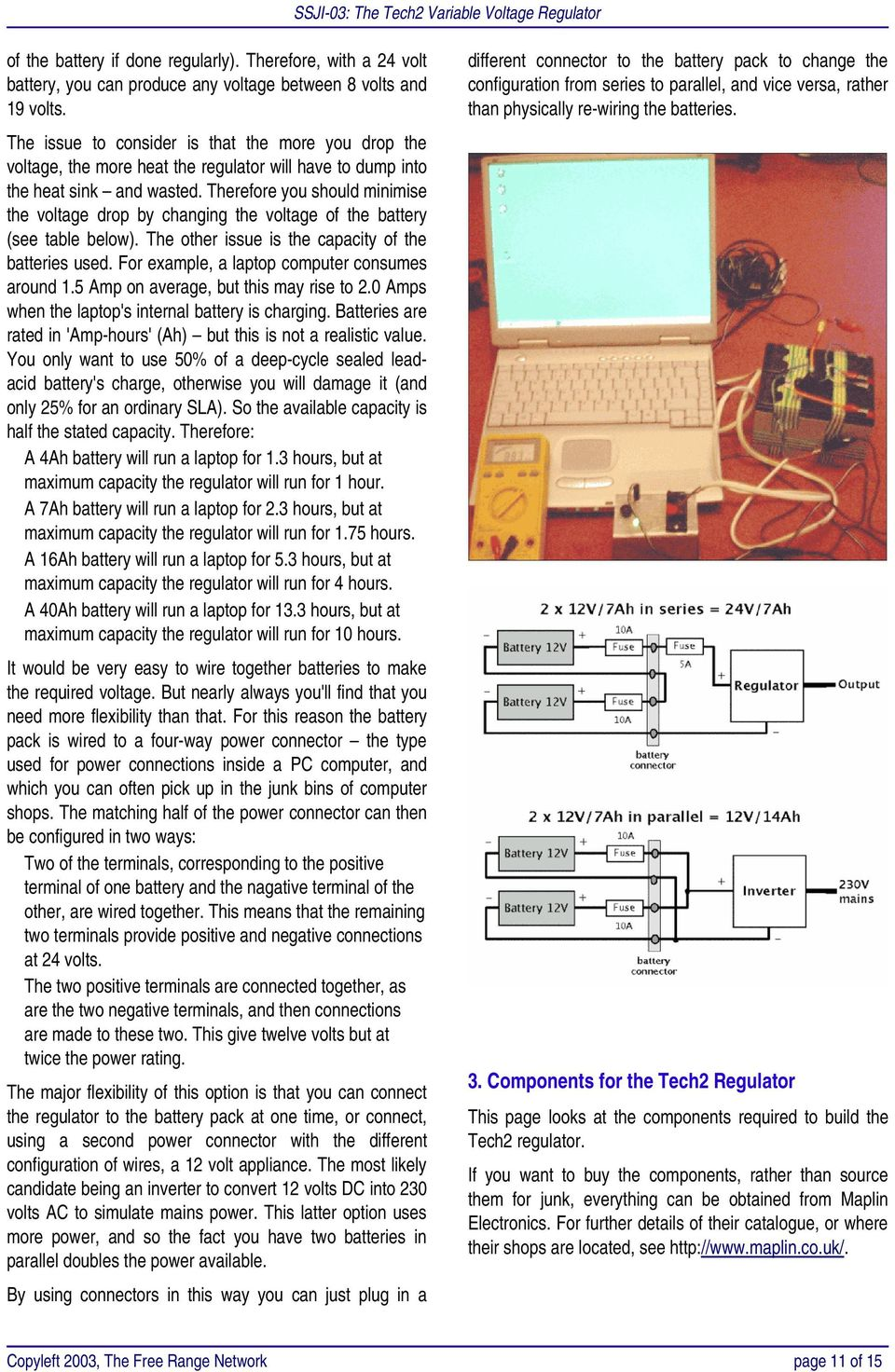 Ssji 03 The Tech2 Variable Voltage Regulator Pdf L200 12v Constant Battery Charger Circuit This Therefore You Should Minimise Drop By Changing Of See