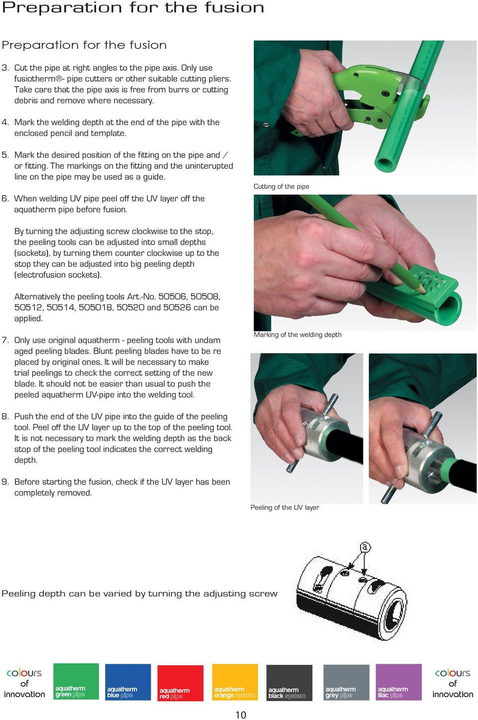 mark the desired position the fitting on the pipe and or fitting the markings
