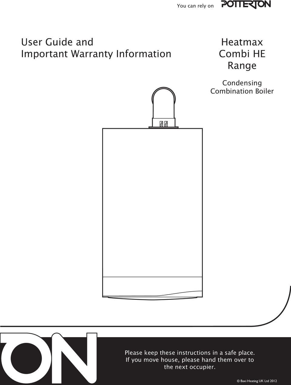 User Guide and Important Warranty Information. Heatmax Combi HE ...