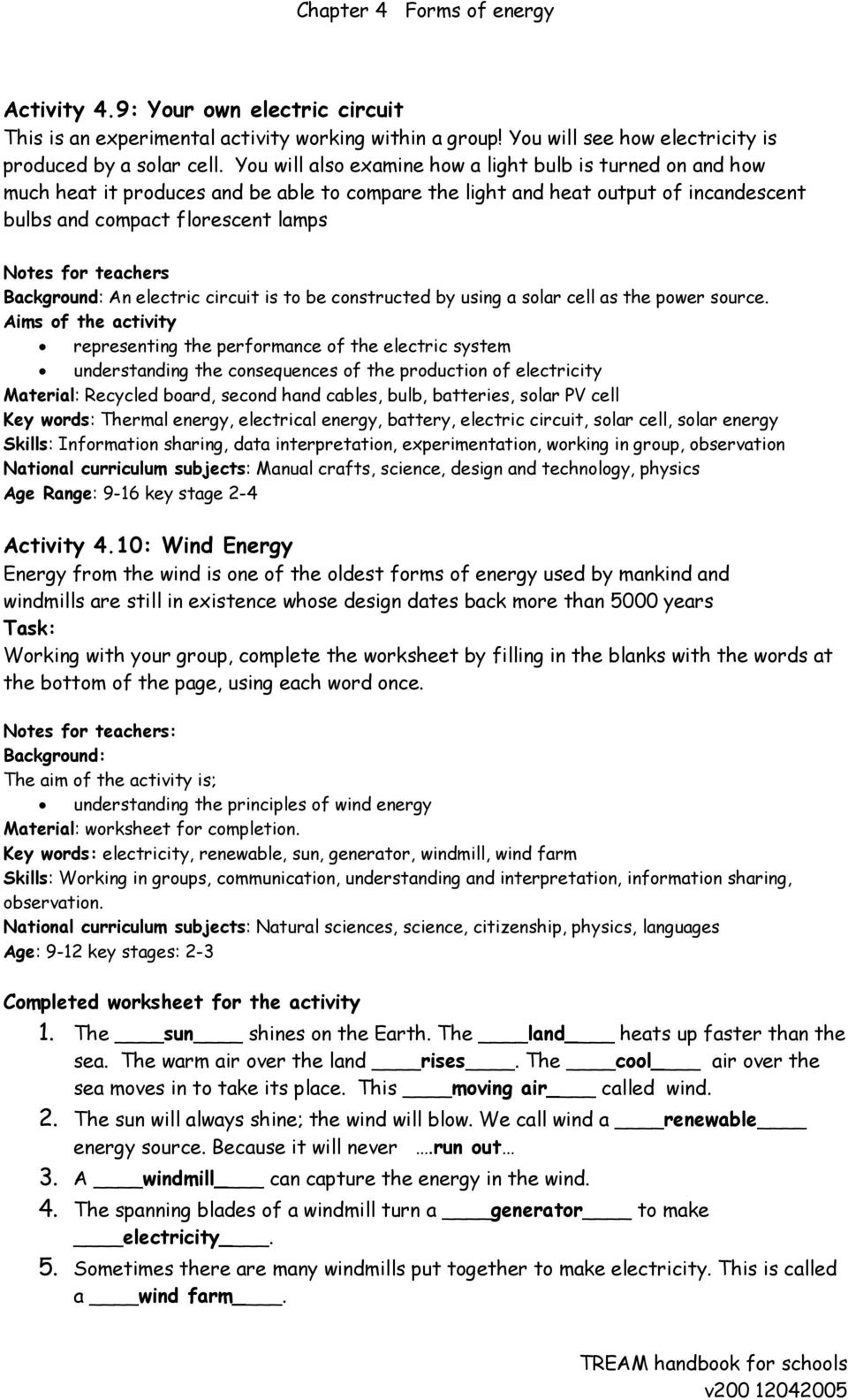 Chapter 4 Forms of energy - PDF