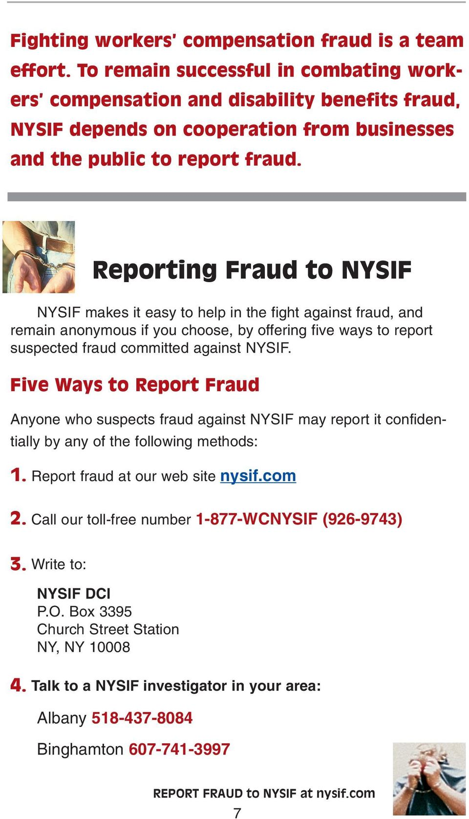 Nysif Is Leading The Fight Against Workers Compensation Fraud You Can Help Pdf Free Download