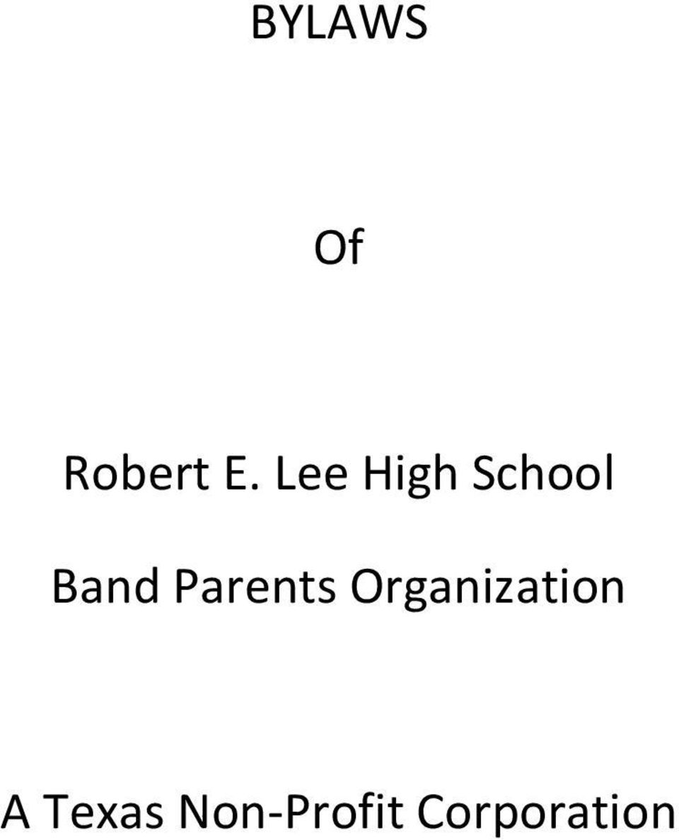 Parents Organization A