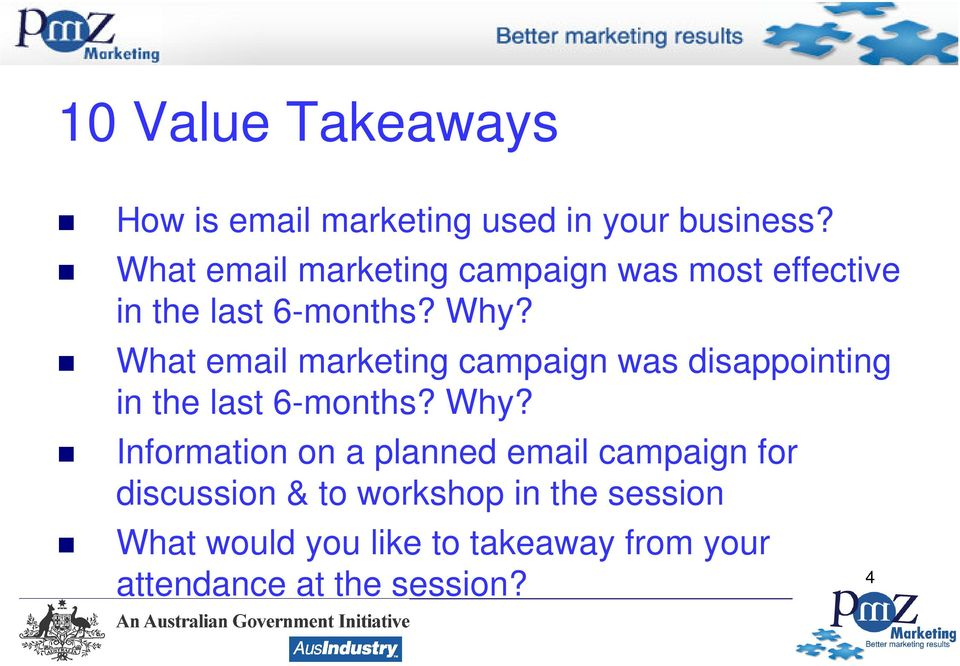 What email marketing campaign was disappointing in the last 6-months? Why?