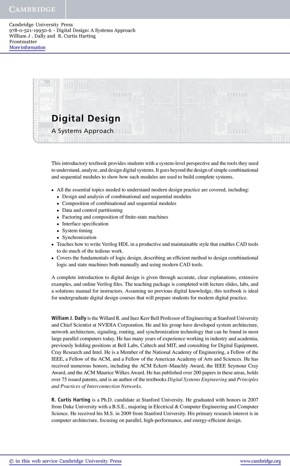 Digital Design A Systems Approach Pdf Free Download