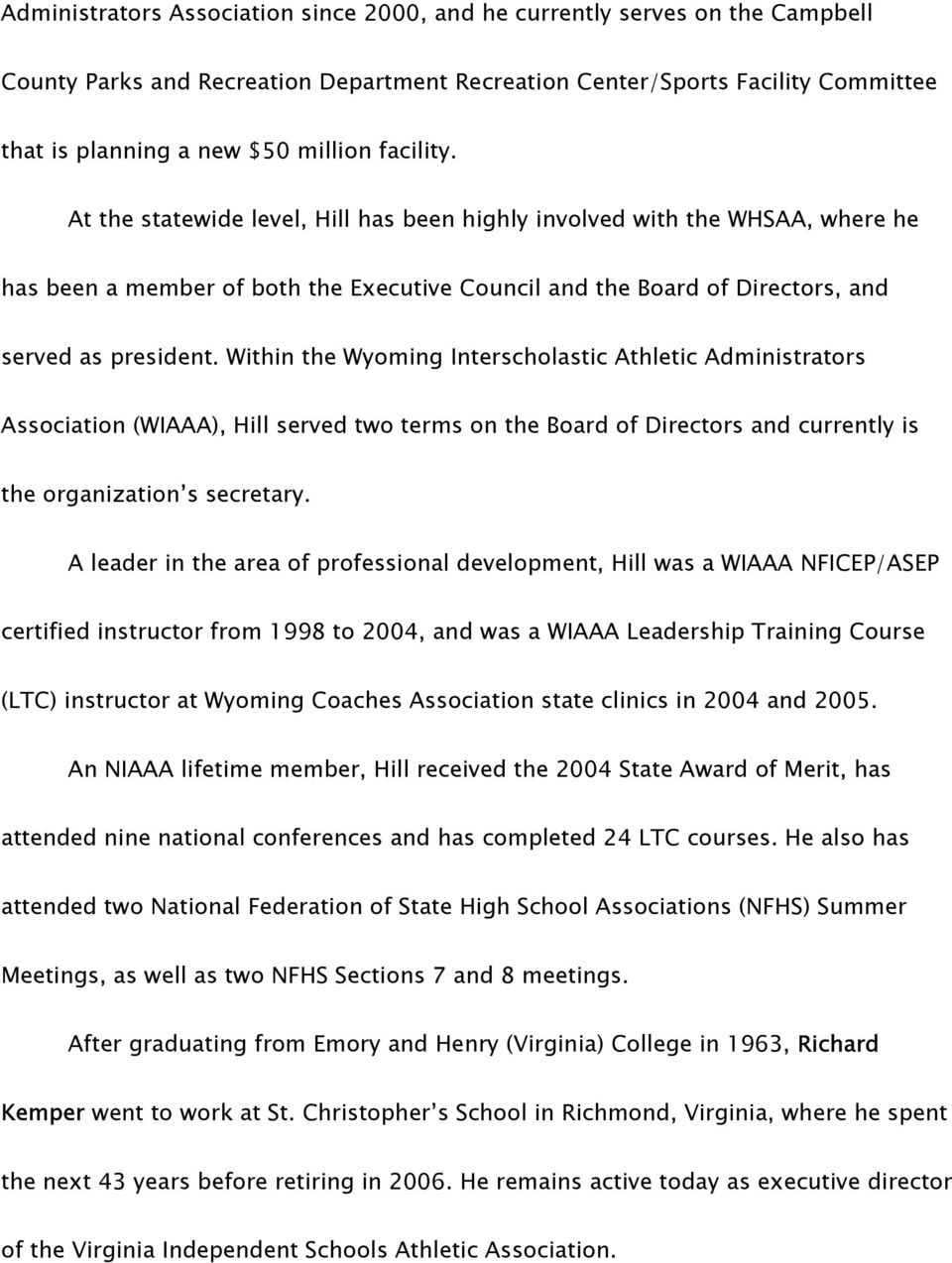 National Federation Of State High School Associations News Release