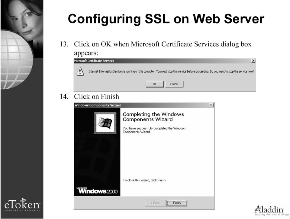 Certificate Services dialog