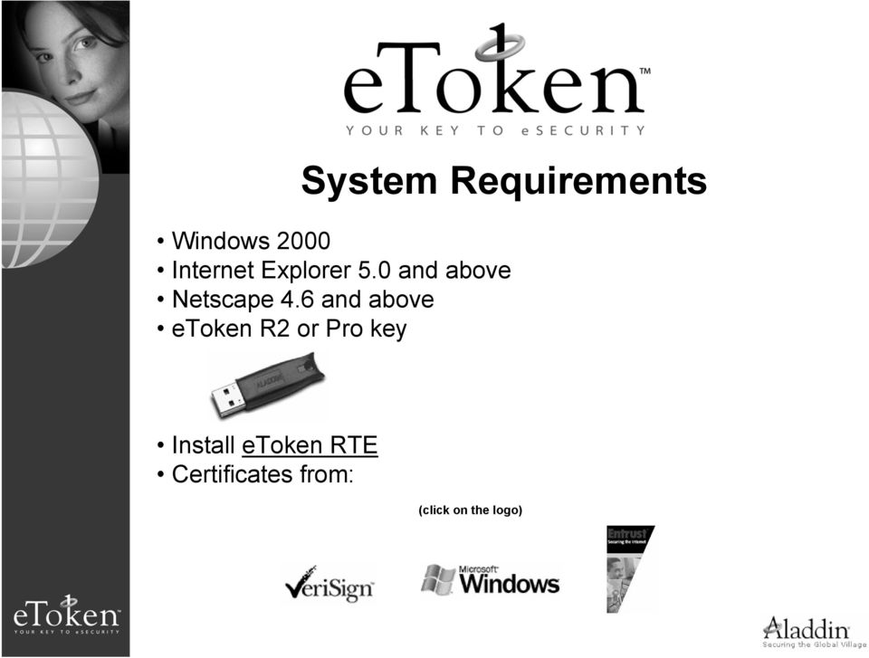 6 and above etoken R2 or Pro key Install