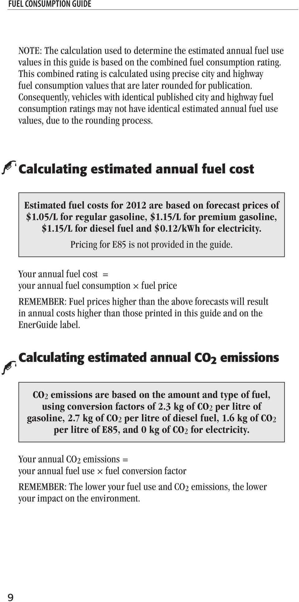 Consequently Vehicles With Identical Published City And Highway Fuel Consumption Ratings May Not Have