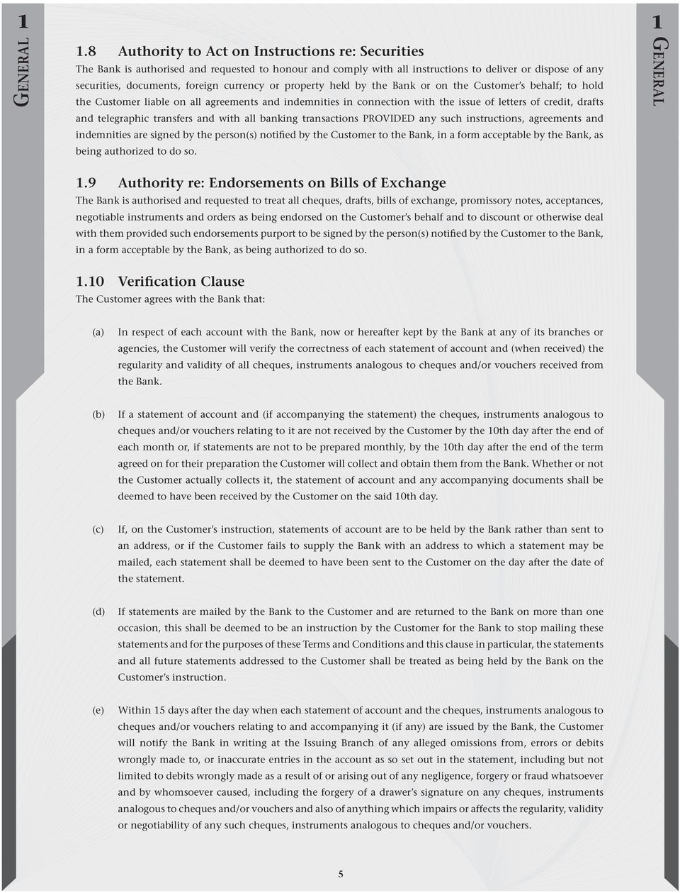 Effective March 17, Terms & Conditions  for Banking
