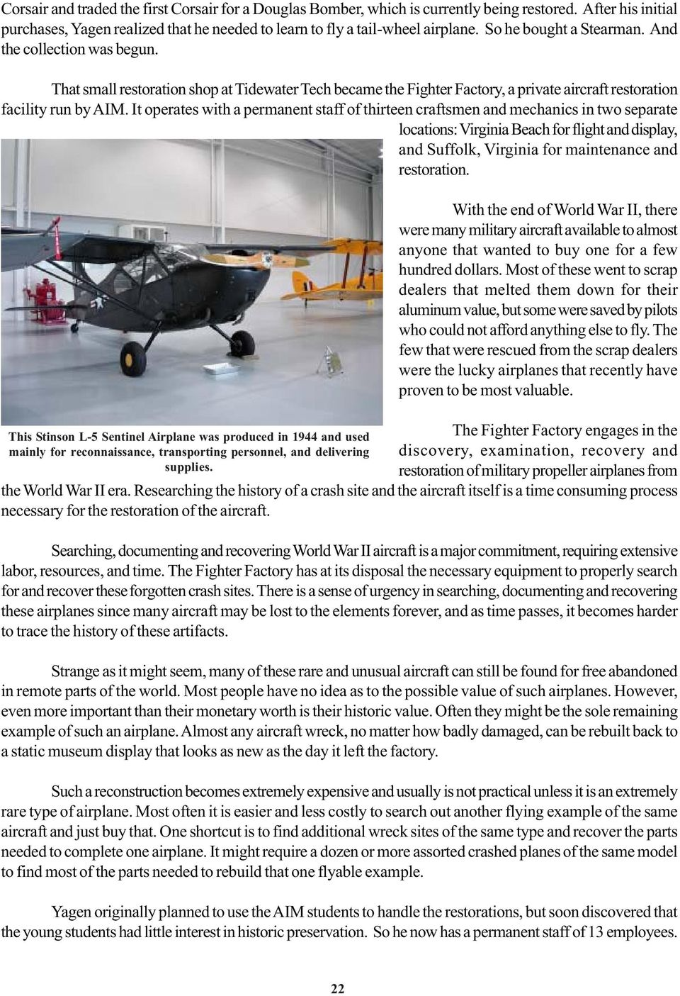 Virginia Aviation History Project  The Fighter Factory by