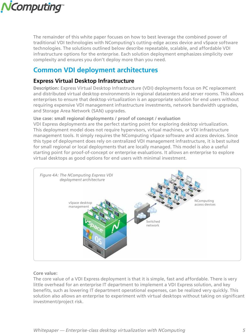 Each solution deployment emphasizes simplicity over complexity and ensures you don t deploy more than you need.